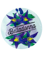 Deadly Detox Belladonna Circular Glass Chopping Board