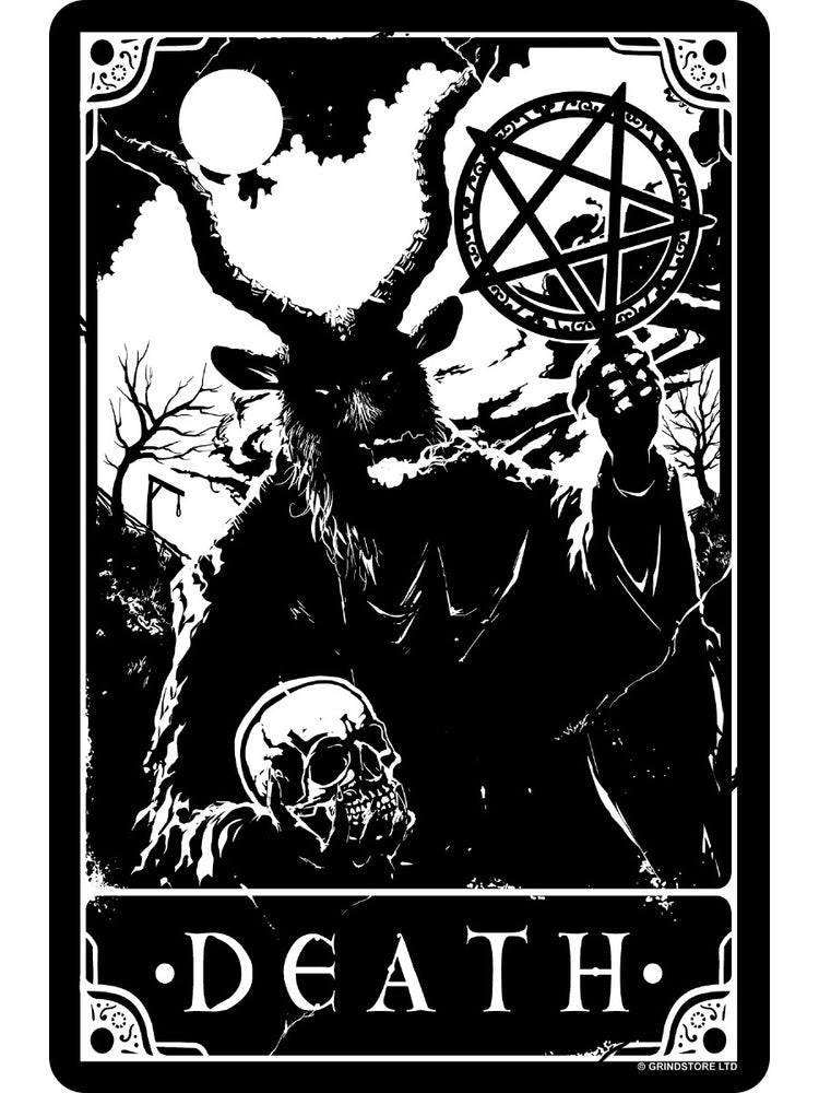 Deadly Tarot - Death Small Tin Sign