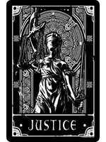 Deadly Tarot - Justice Small Tin Sign