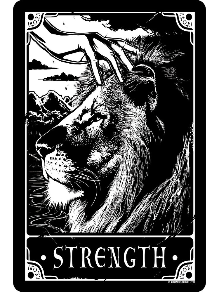Deadly Tarot - Strength Small Tin Sign