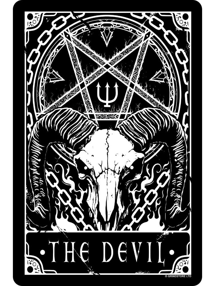 Deadly Tarot - The Devil Small Tin Sign