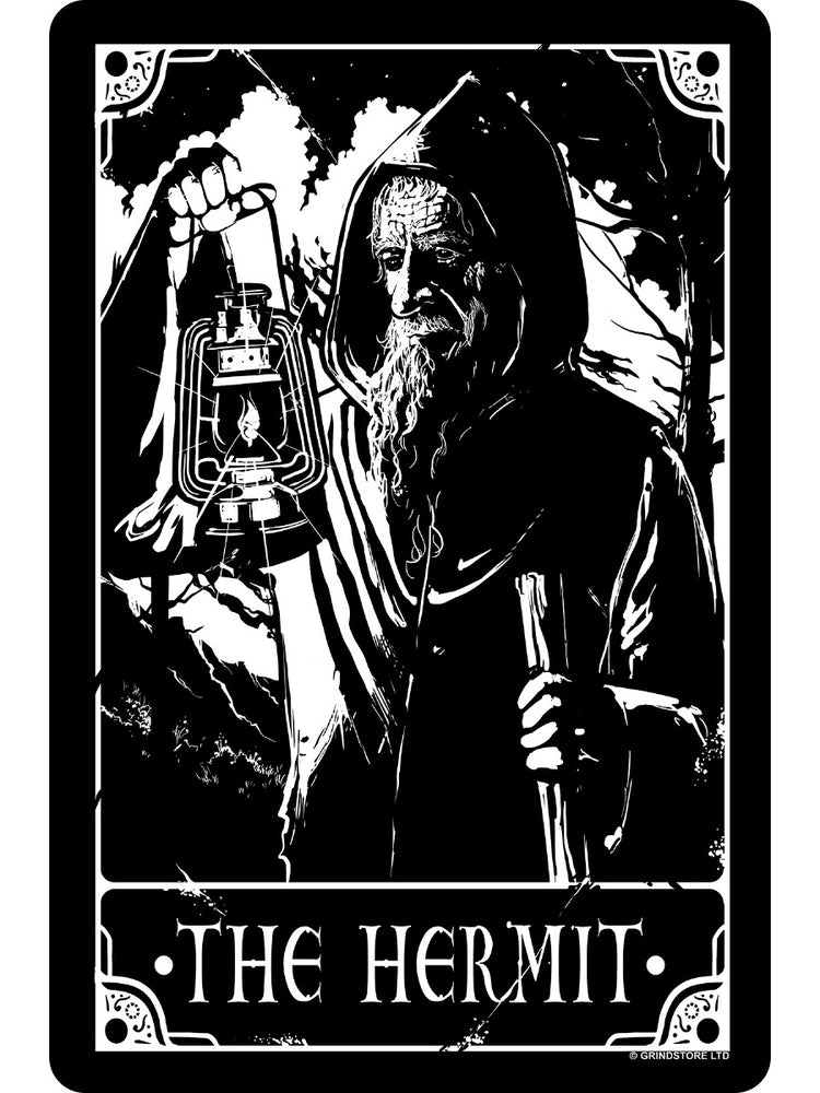 Deadly Tarot - The Hermit Small Tin Sign