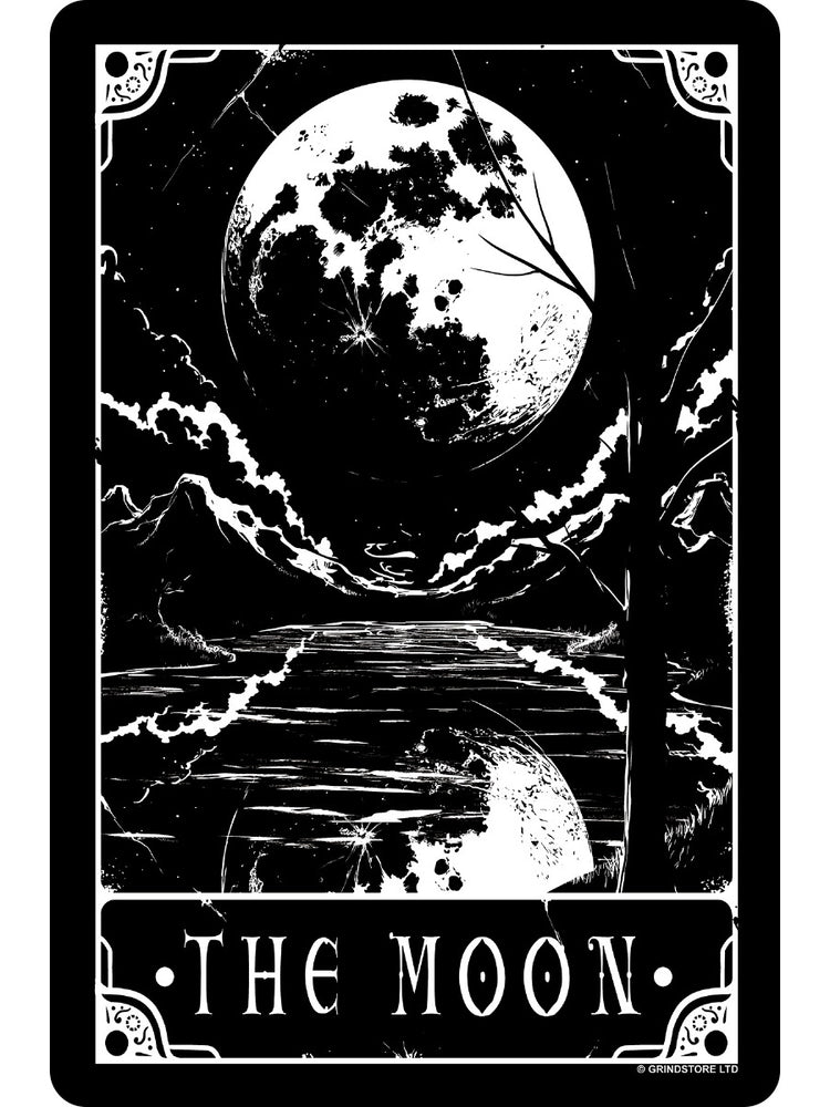 Deadly Tarot - The Moon Small Tin Sign