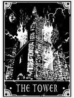 Deadly Tarot - The Tower Mini Poster