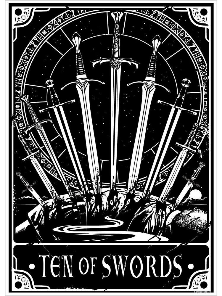 Deadly Tarot - Ten Of Swords Mini Poster