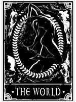 Deadly Tarot - The World Mini Poster