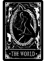 Deadly Tarot - The World Small Tin Sign