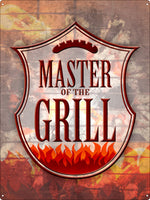 Master Of The Grill Tin Sign