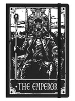 Deadly Tarot - The Emperor Black A5 Hard Cover Notebook