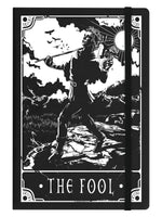 Deadly Tarot - The Fool Black A5 Hard Cover Notebook