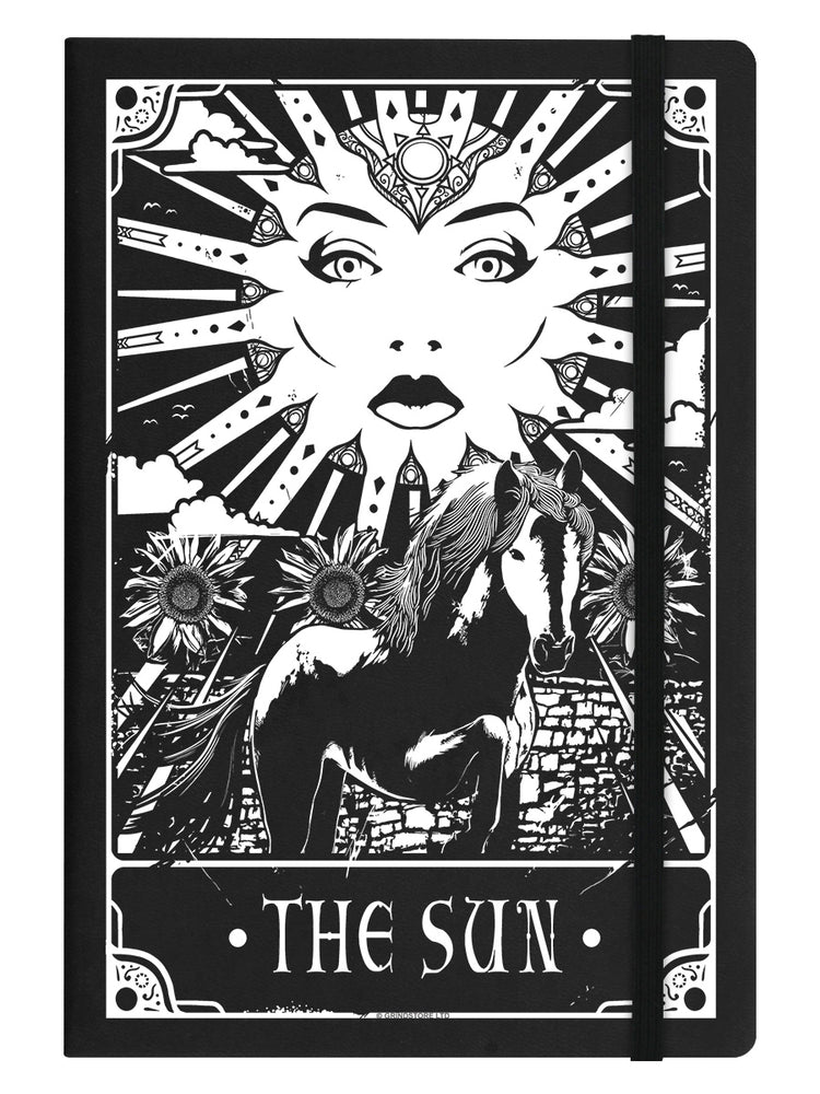 Deadly Tarot - The Sun Black A5 Hard Cover Notebook
