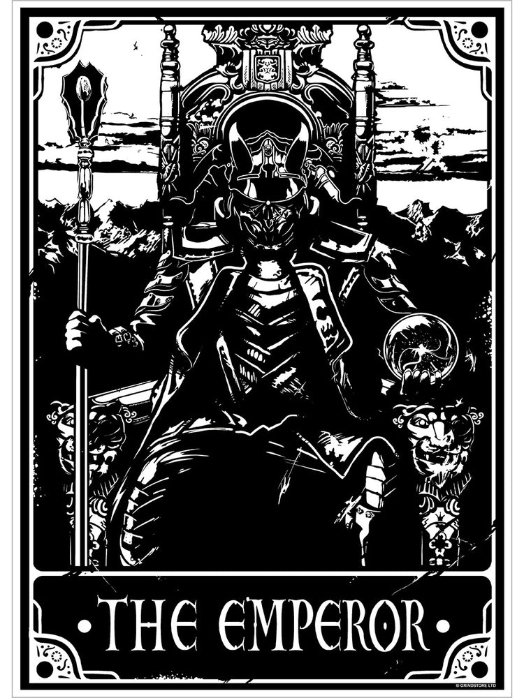 Deadly Tarot - The Emperor Mini Poster