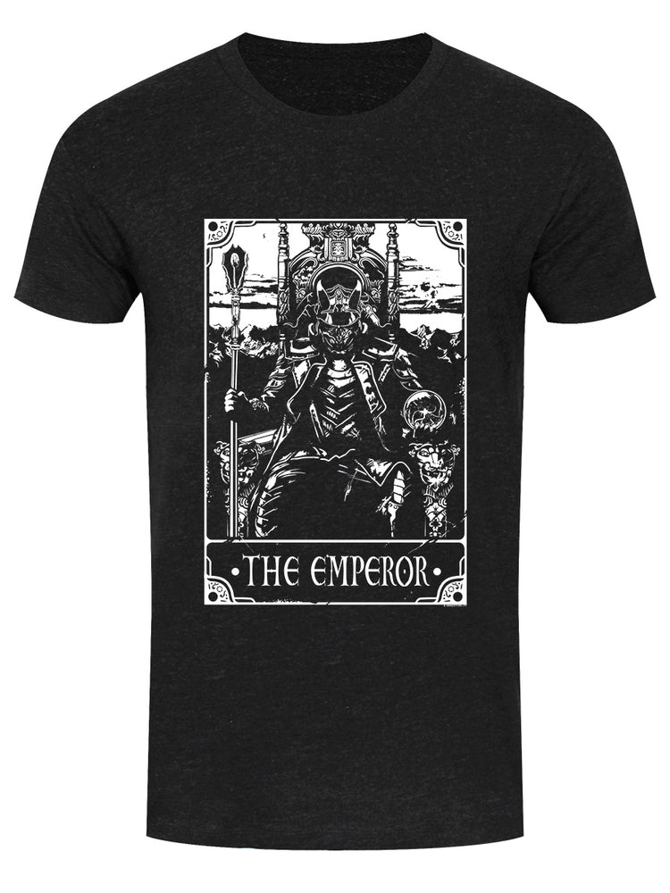 Deadly Tarot - The Emperor Men's Heather Black Denim T-Shirt