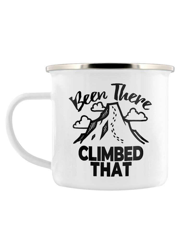 Been There Climbed That Enamel Mug