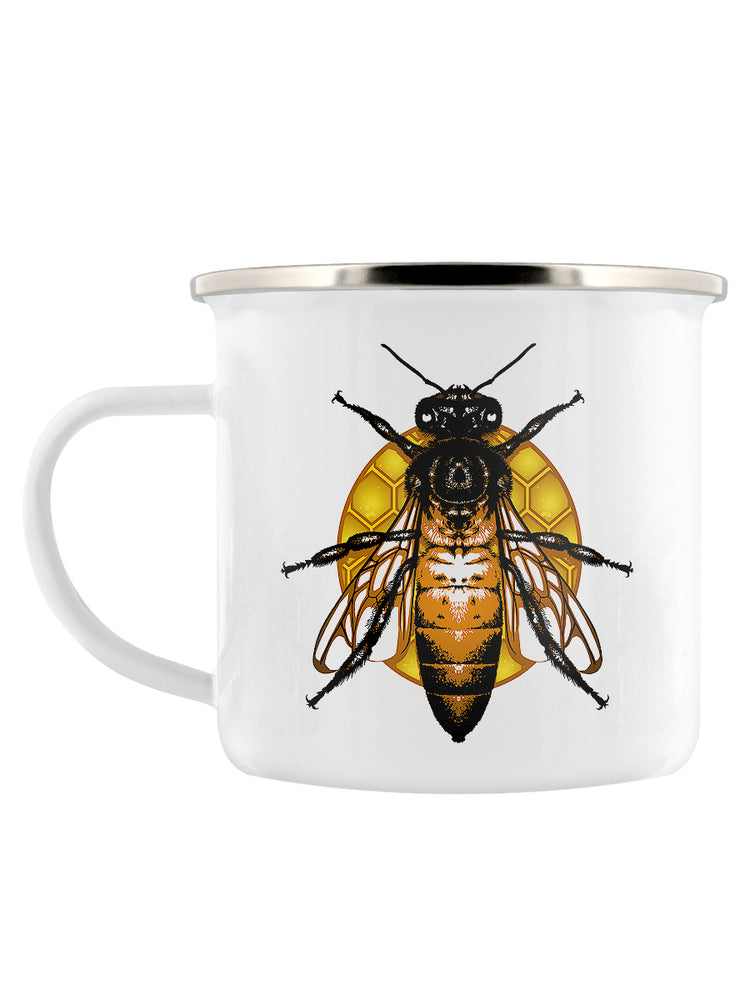 Queen Bee Enamel Mug