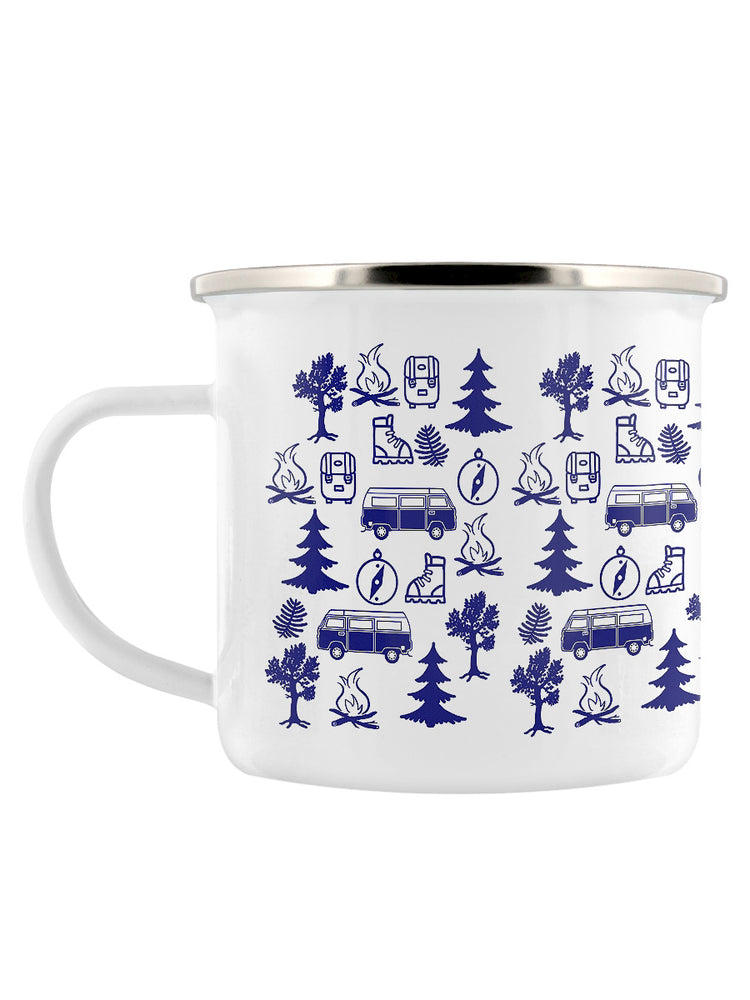 RV Adventure Enamel Mug