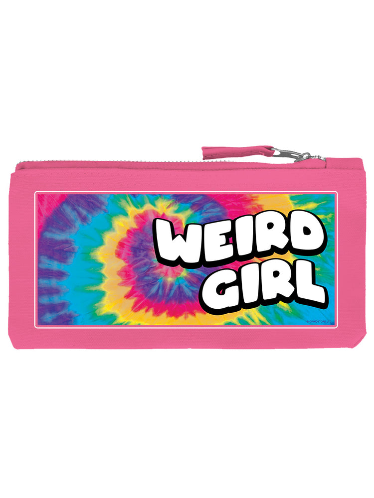 Weird Girl Pink Pencil Case