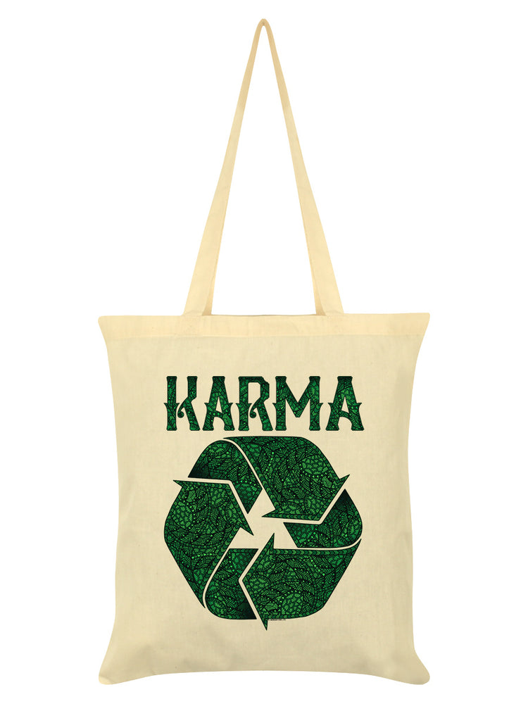 Recycling Karma Cream Tote Bag
