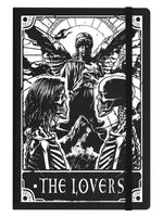 Deadly Tarot The Lovers Black A5 Hard Cover Notebook