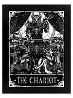 Deadly Tarot The Chariot Black Wooden Framed Print