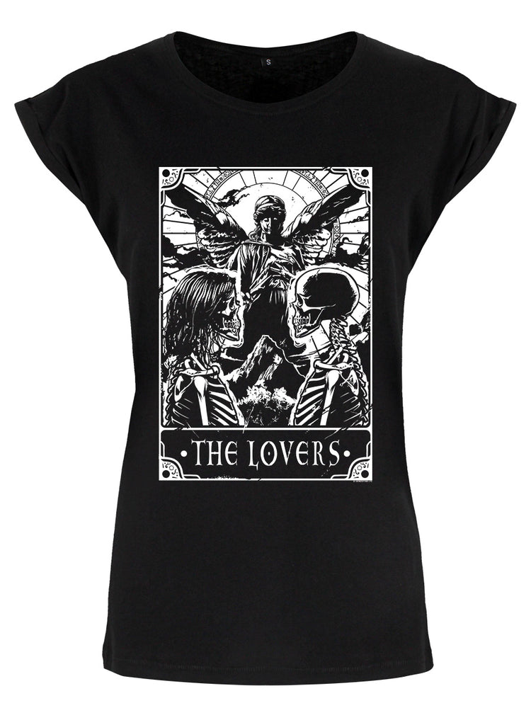 Deadly Tarot The Lovers Ladies Premium Black T-Shirt
