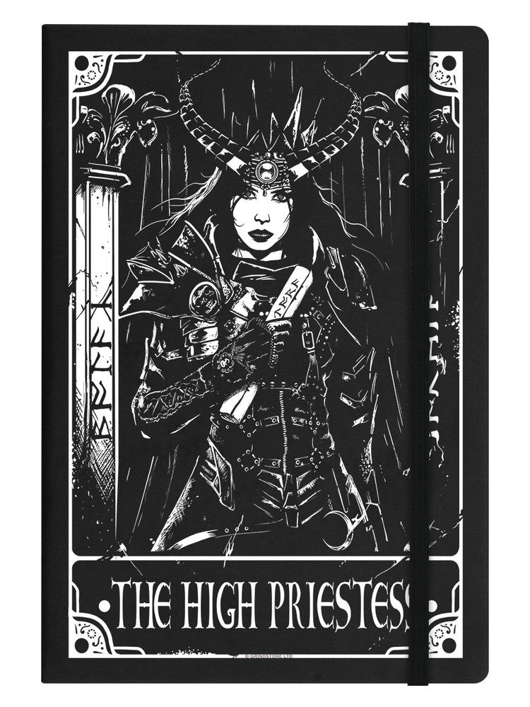 Deadly Tarot The High Priestess Black A5 Hard Cover Notebook