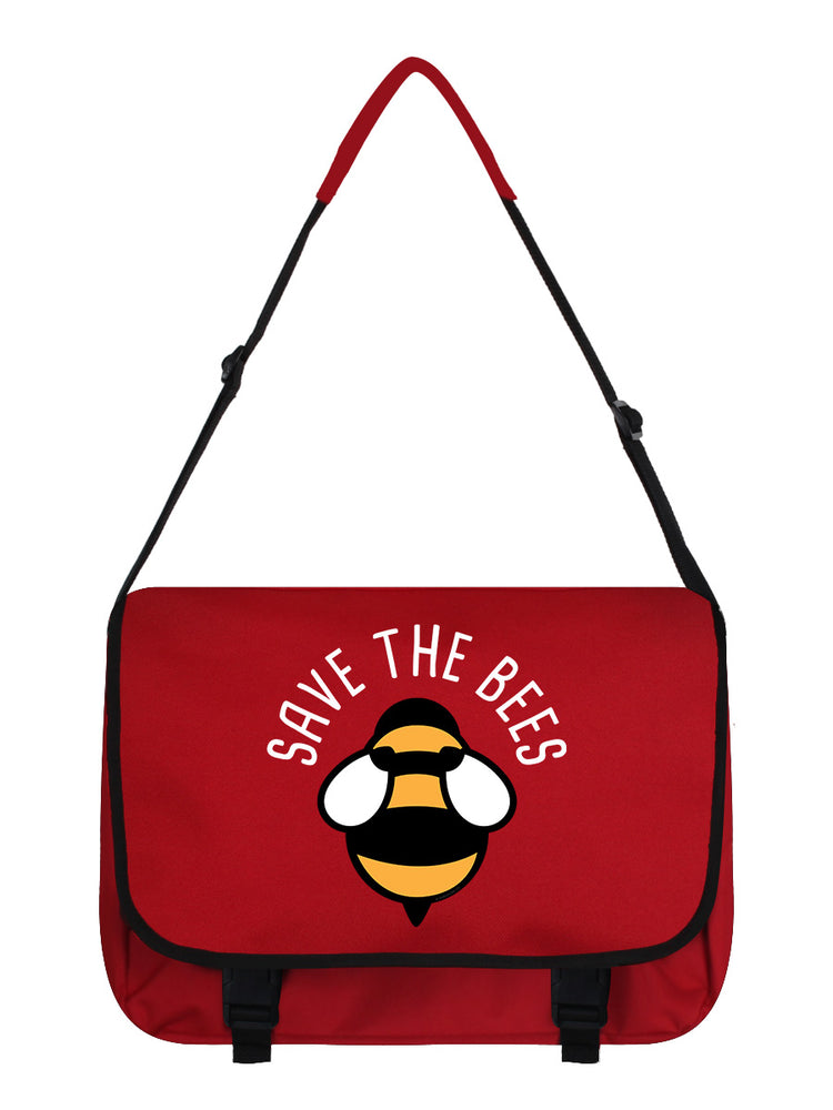 Save The Bees Red Messenger Bag