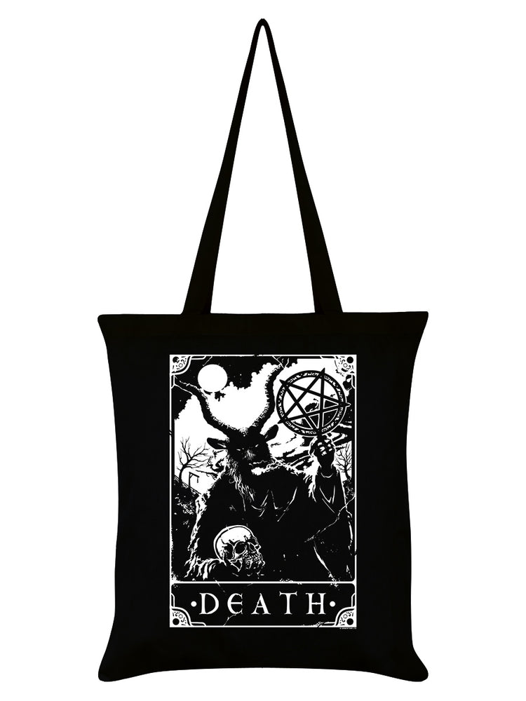 Deadly Tarot - Death Black Tote Bag