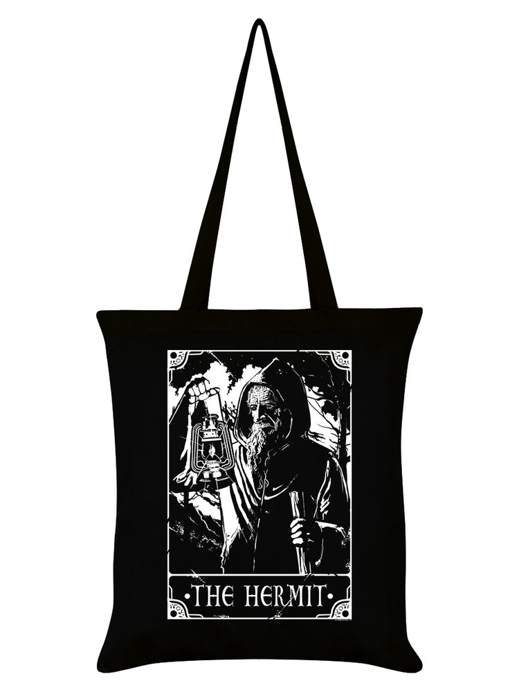 Deadly Tarot - The Hermit Black Tote Bag