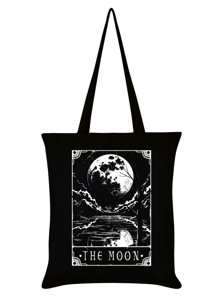 Deadly Tarot - The Moon Black Tote Bag