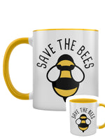 Save The Bees Yellow Inner 2-Tone Mug