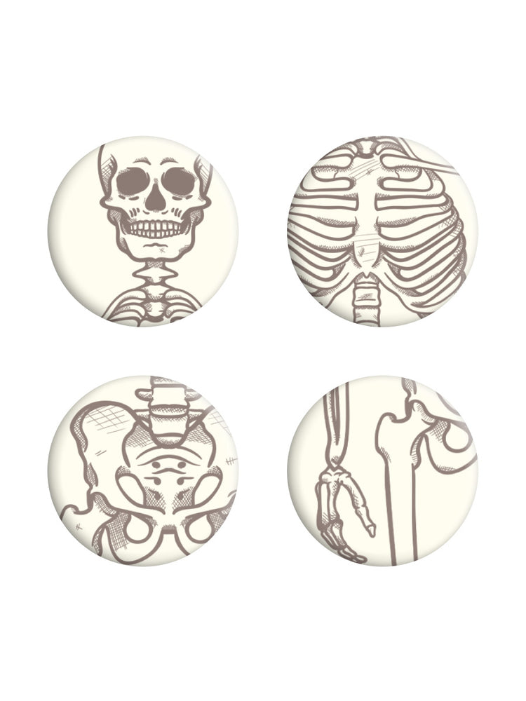 Dem Bones Skeleton Badge Pack