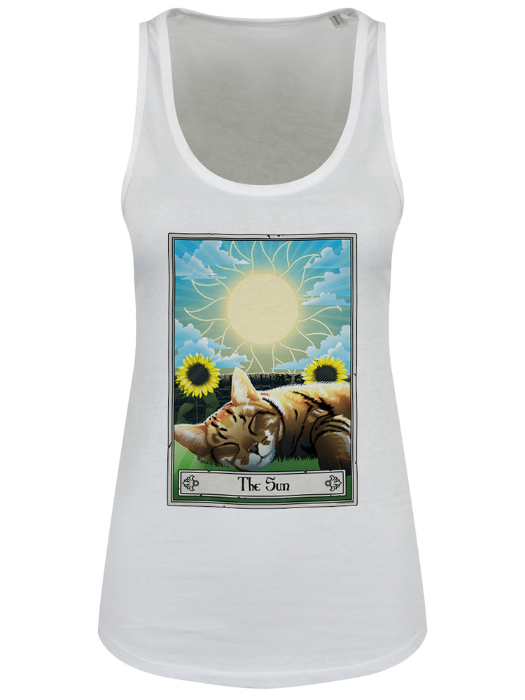 Deadly Tarot Felis - The Sun Ladies White Floaty Tank
