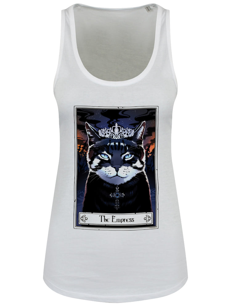 Deadly Tarot Felis - The Empress Ladies White Floaty Tank