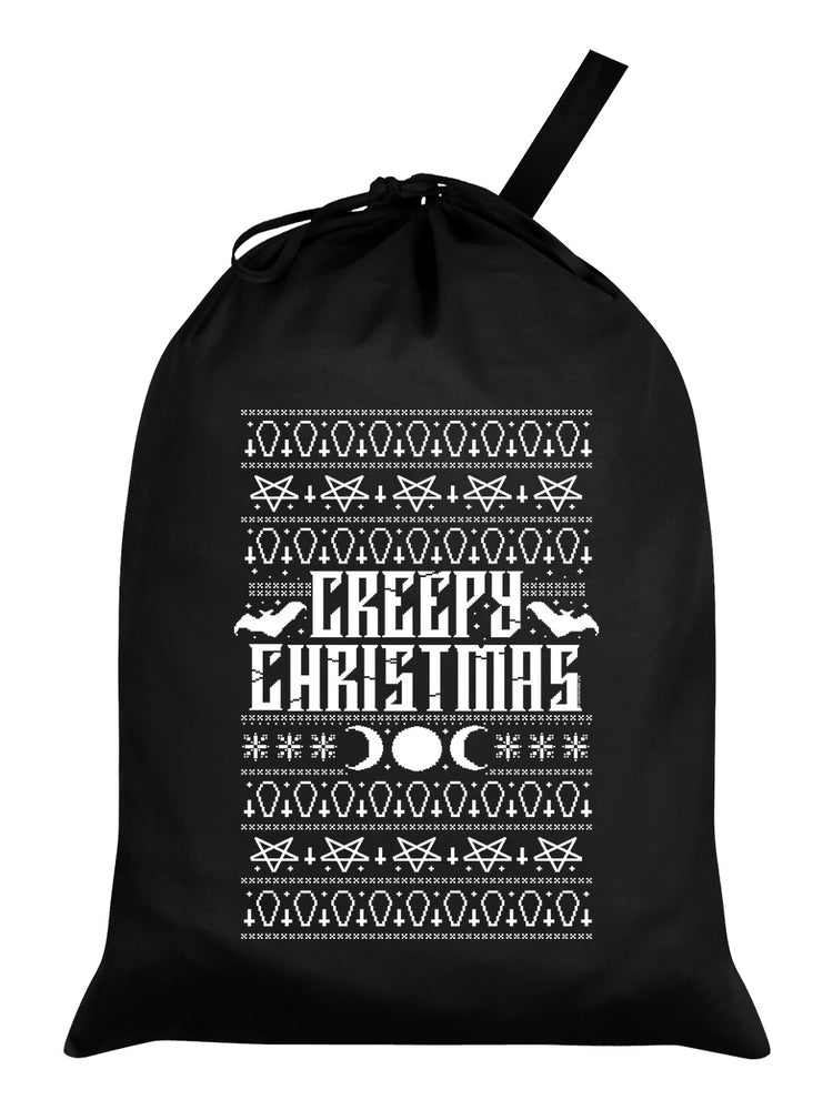 Creepy Christmas Black Santa Sack