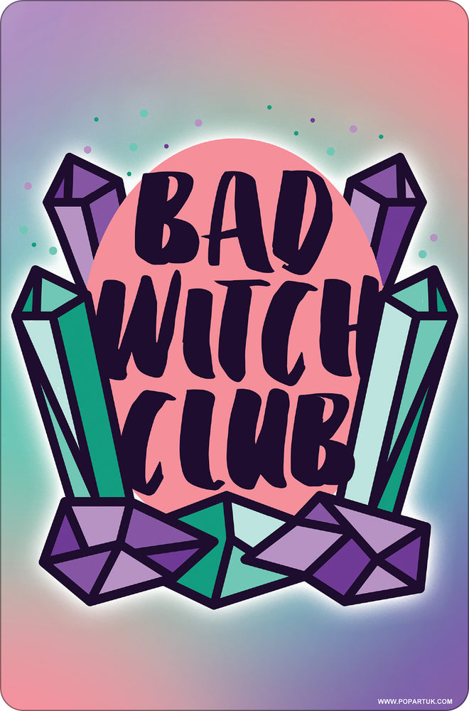 Bad Witch Club Small Tin Sign