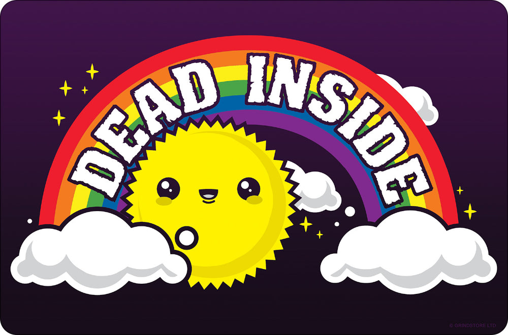 Dead Inside Small Tin Sign