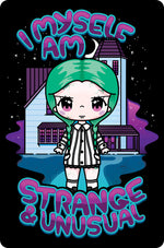 Mio Moon I Myself Am Strange & Unusual Small Tin Sign