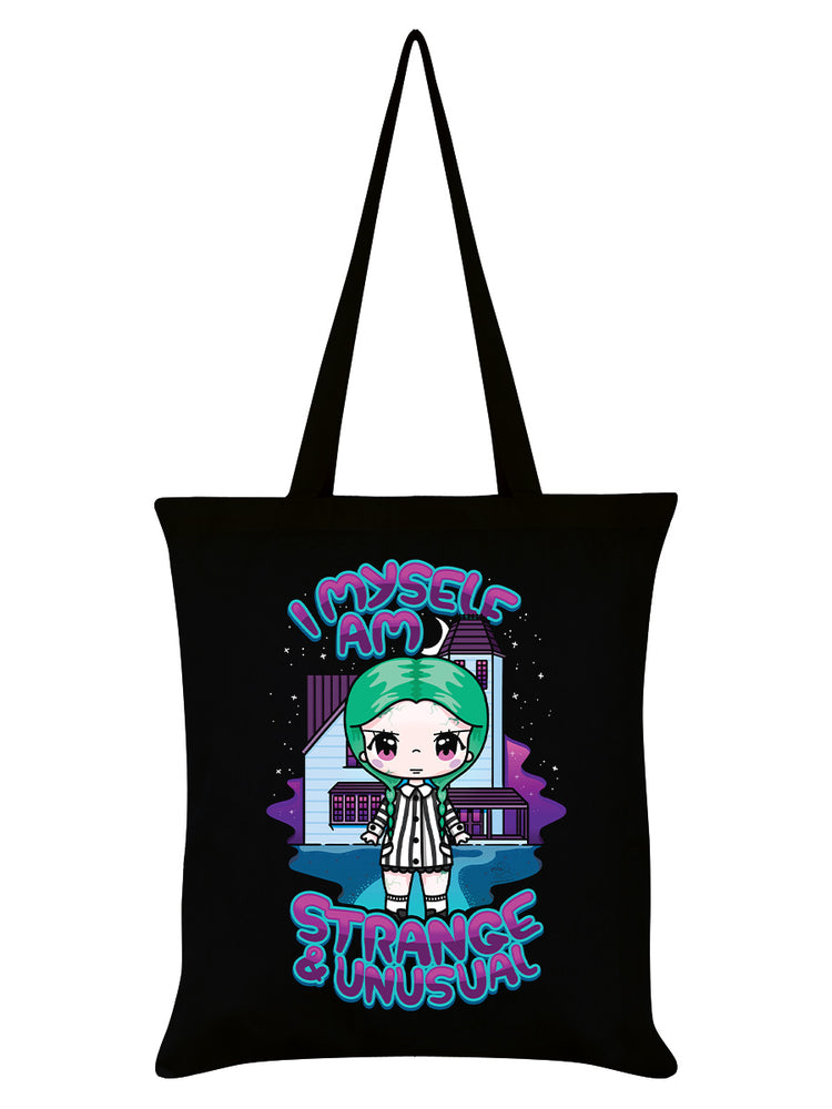 Mio Moon I Myself Am Strange & Unusual Black Tote Bag