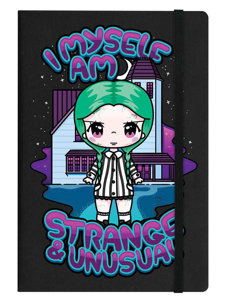 Mio Moon I Myself Am Strange & Unusual Black A5 Hard Cover Notebook