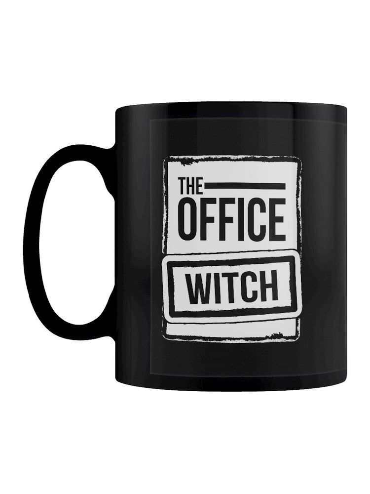 The Office Witch Black Mug