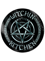 Witchin In The Kitchen Circular Glass Chopping Board