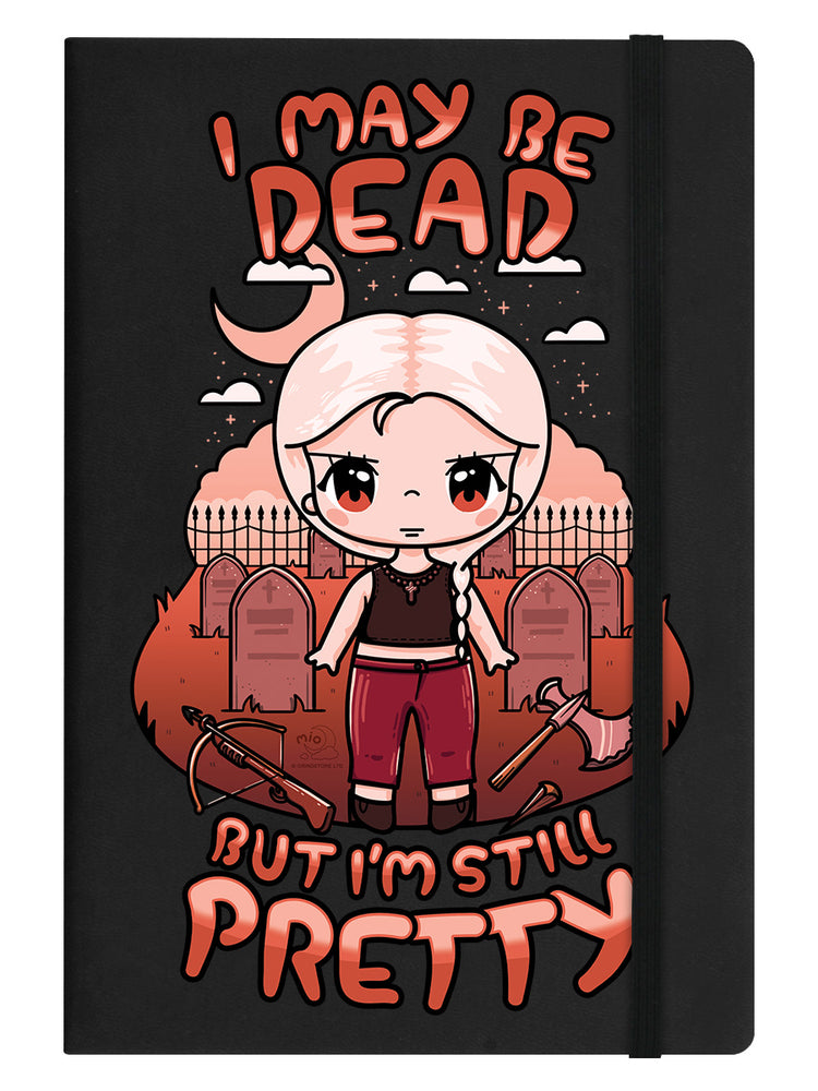 Mio Moon I May Be Dead But I'm Still Pretty Black A5 Hard Cover Notebook