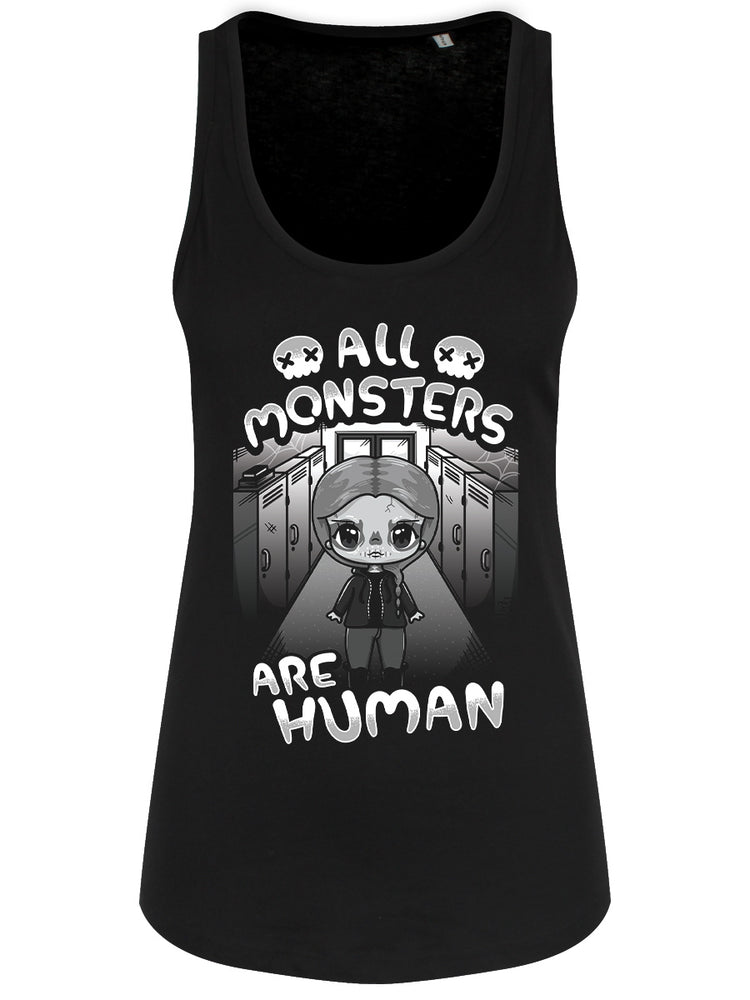 Mio Moon All Monsters Are Human Ladies Black Floaty Tank