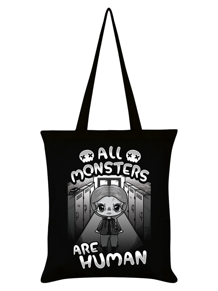 Mio Moon All Monsters Are Human Black Tote Bag