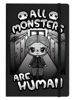 Mio Moon All Monsters Are Human Black A5 Hard Cover Notebook