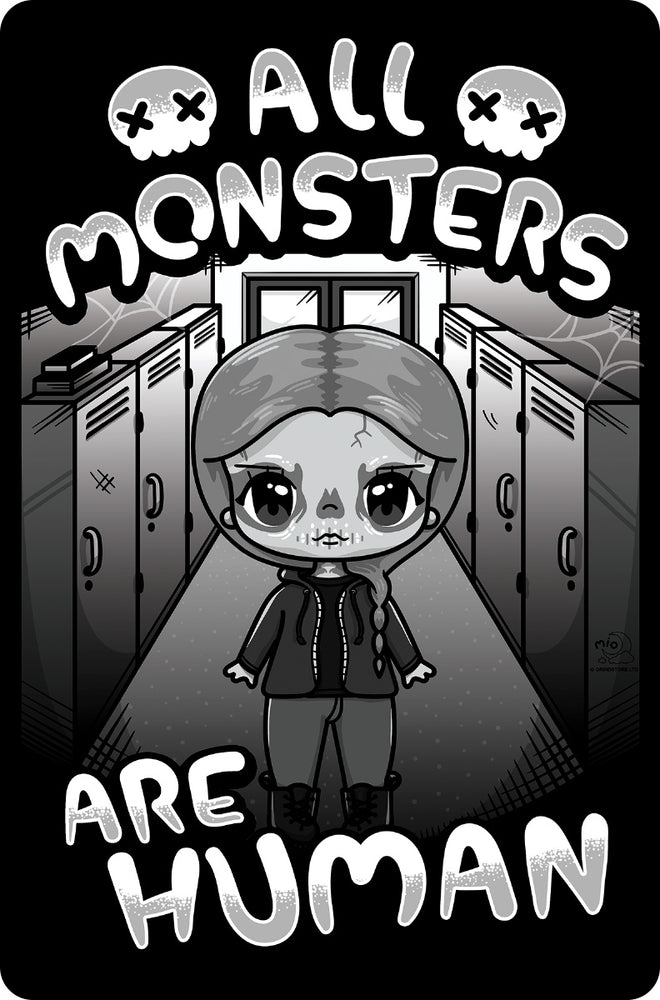 Mio Moon All Monsters Are Human Small Tin Sign