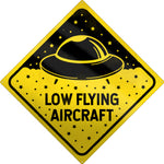 Low Flying Aircraft Sci-Fi Tin Sign