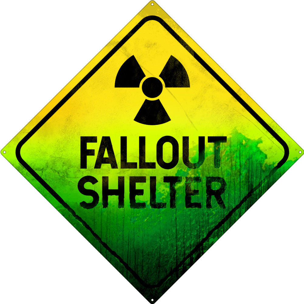 Fallout Shelter Square Tin Sign