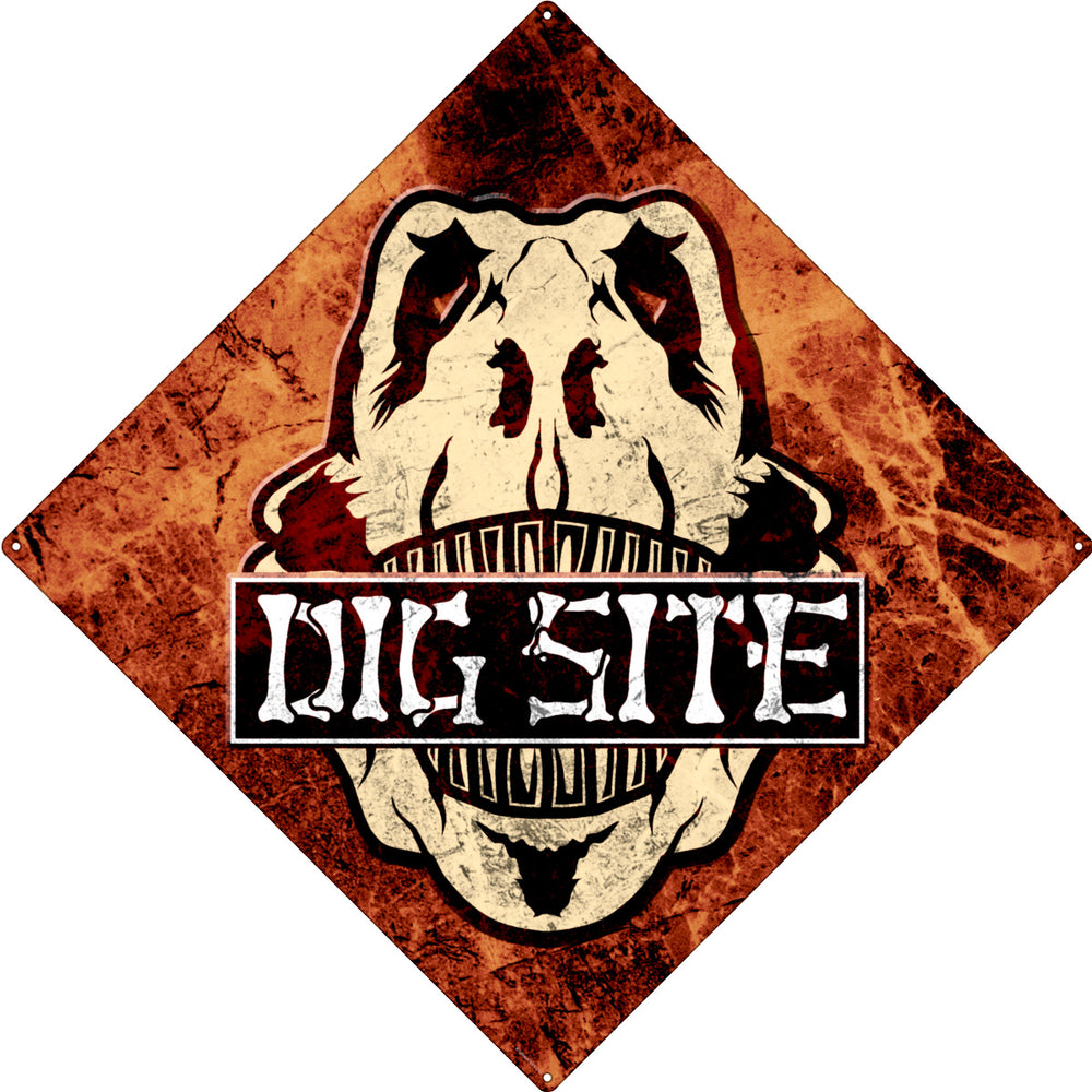 Dig Site Square Tin Sign